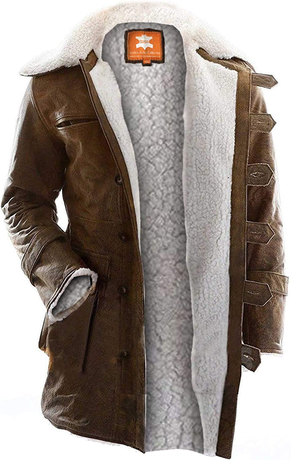 Tom Put Hard Work in Designing Original Snuff Leather Sherpa Brown Bane Coat