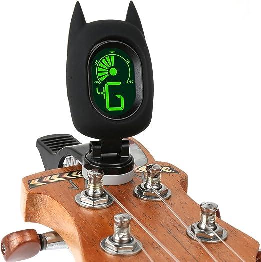 KOBWA Bat - Afinador de Guitarra con Clip, Diseño Bonito, Ajuste ...