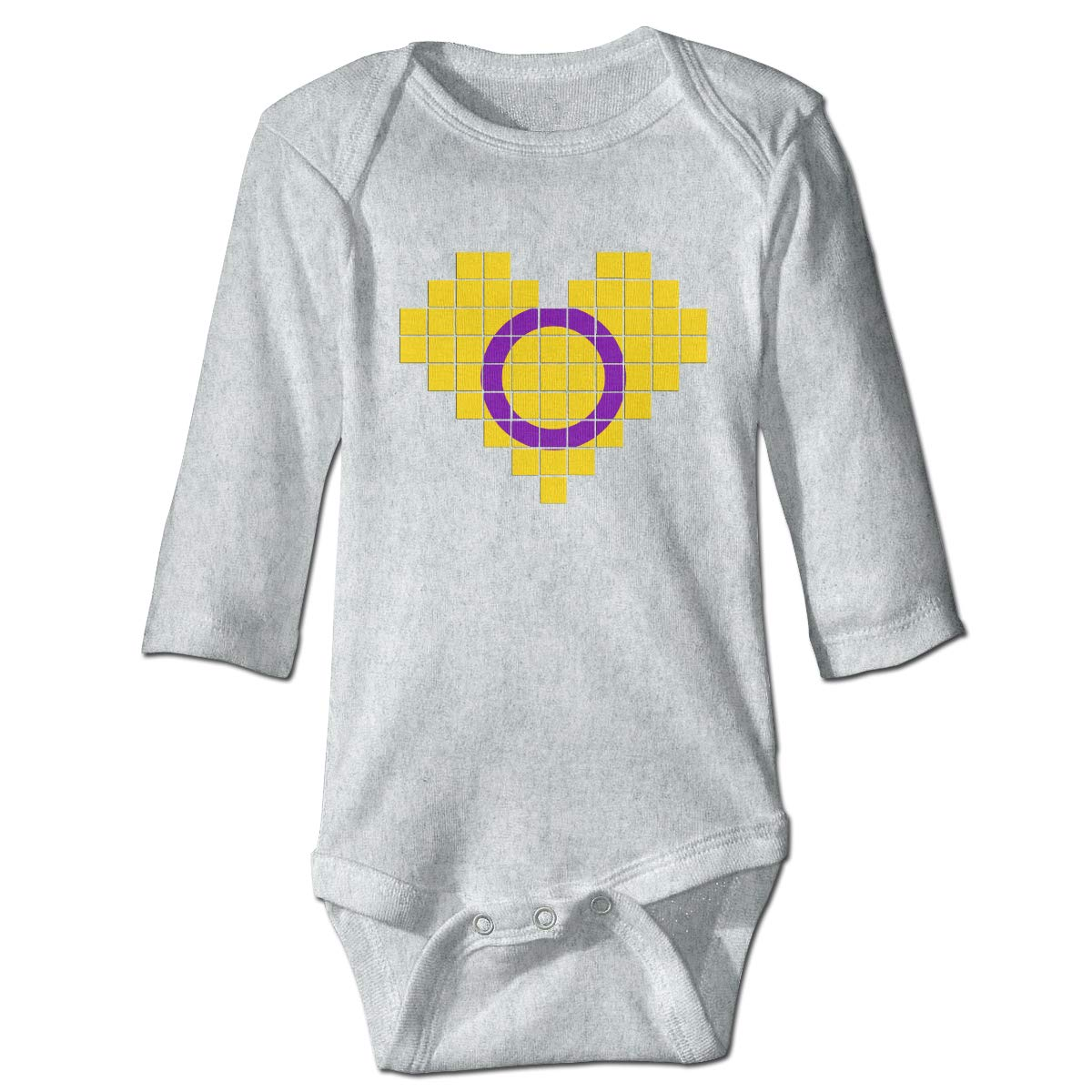 A14UBP Infant Baby Boys Girls Long Sleeve Romper Bodysuit Intersex Pride Flag Playsuit Outfit Clothes