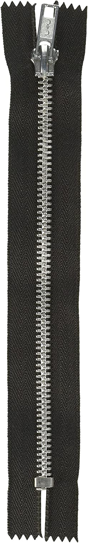Coats Thread /& Zippers and Clark Fashion Metal Aluminum Closed Bottom Zipper 22-Inch Black