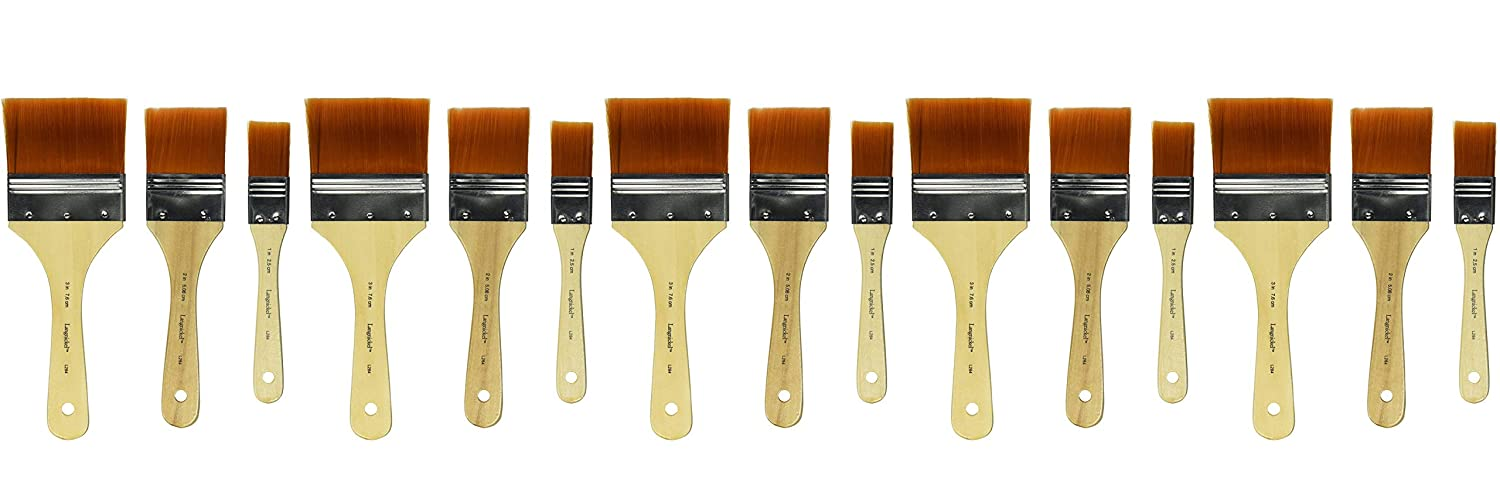 Royal Brush Golden Taklon Paint Brushs, Assorted Sizes, Set of 3 School Specialty 402548