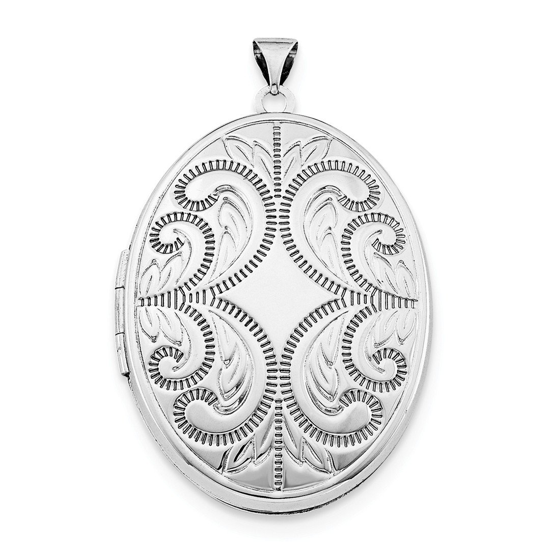ICE CARATS 925 Sterling Silver Oval Scroll 6 Frame Photo Pendant Charm Locket Chain Necklace That Holds Pictures Fine Jewelry Gift For Women Heart
