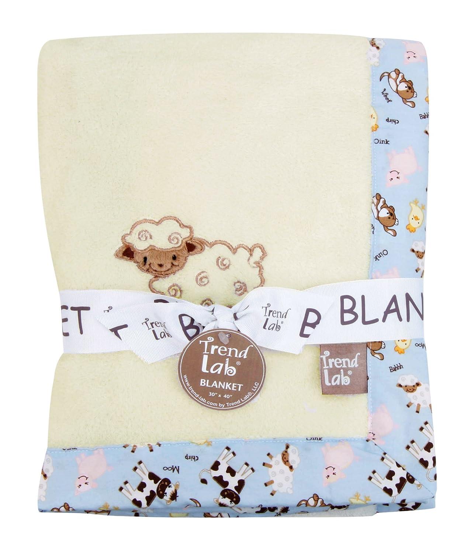 Baby Barnyard Trend Lab Framed Receiving Blanket