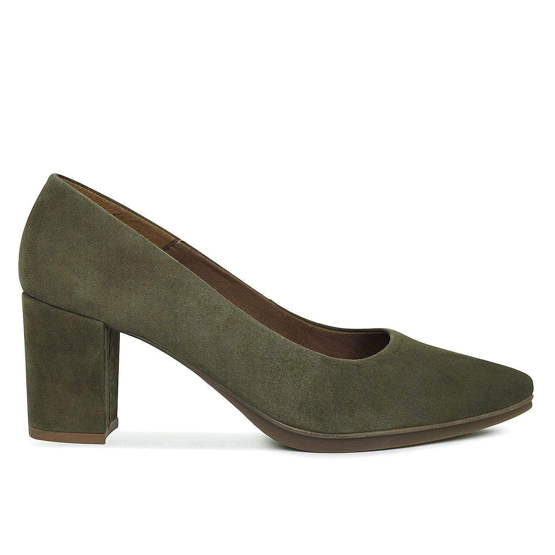 Zapatos Salón. Zapatos Piel Mujer Hechos EN ESPAÑA. Zapatos Tacón Verde. Zapato Mimao. Zapatos Mujer Tacón. Zapatos Mujer Fiesta y Baile Latino. Zapato Cómodo Mujer con Plantilla Confort Gel