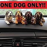 Crispy Deals Multi Color Car Dashboard Toy, Shaking Head Dog Figurine Mullti-Color
