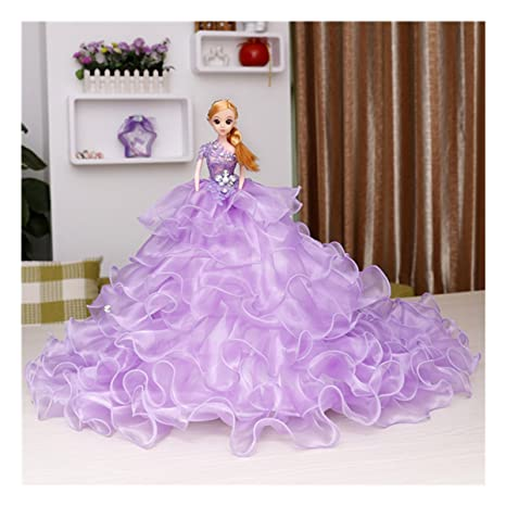 Amazon.com: Kingbridal Blonde Bride Dolls Lilac Organza Tiered ...