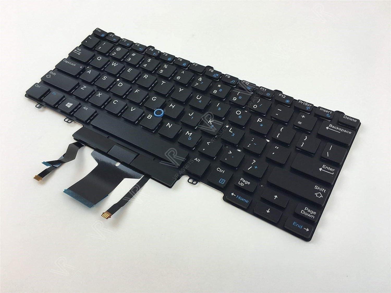0W301T NEW Dell Latitude 5500 GERMAN Dual Point Backlit Laptop Keyboard