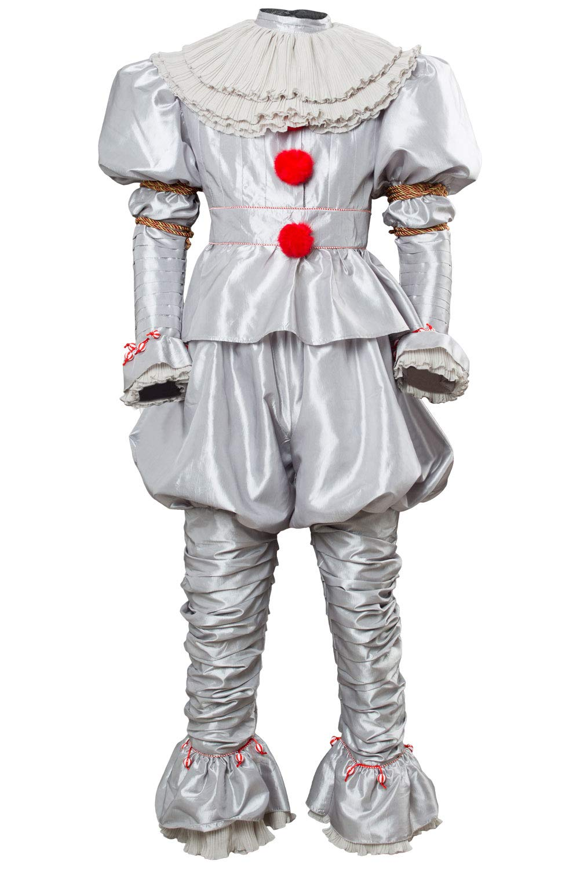 rotJade IT 2 Pennywise Clown Outfit Cosplay Kostüm Stephen King Erwachsene Damen XS Grau L