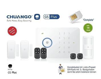 Sim Karte Für Alarmanlage.Chuango G5 Plus Alarmanlage Komplettpaket Inkl Sim Karte