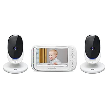 ea3c954a4bdfc Motorola Comfort 50-2 Video Baby Monitor 5 quot  LCD Color Display and 2  Cameras