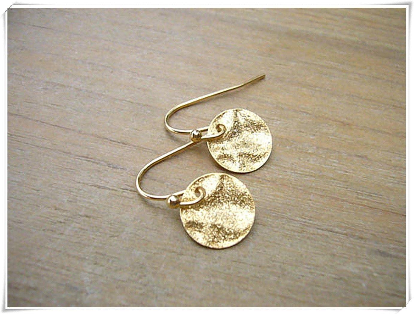 af29a5c5b5e00 Amazon.com: Simple Gold Earrings, Delicate Gold Earrings, Minimalist ...