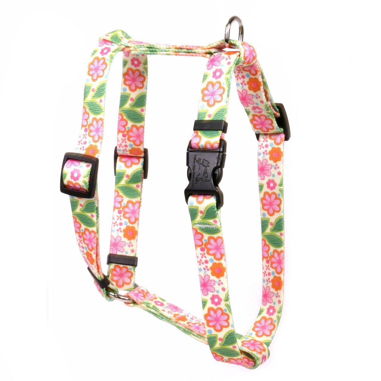 Yellow Dog Design Flower Patch Roman Style Dog Harness Fits Chest Circumference of 8 to 14'', X-Small/3/8