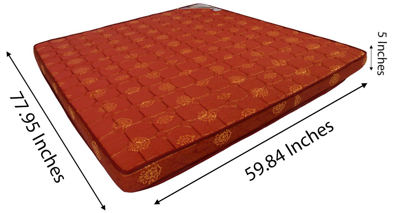 dream well 5 inch queen size foam mattress maroon 78 x60 x5