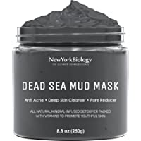 New York Biology Dead Sea Mud Mask for Face and Body - All Natural - Spa Quality Pore Reducer for Acne, Blackheads and…