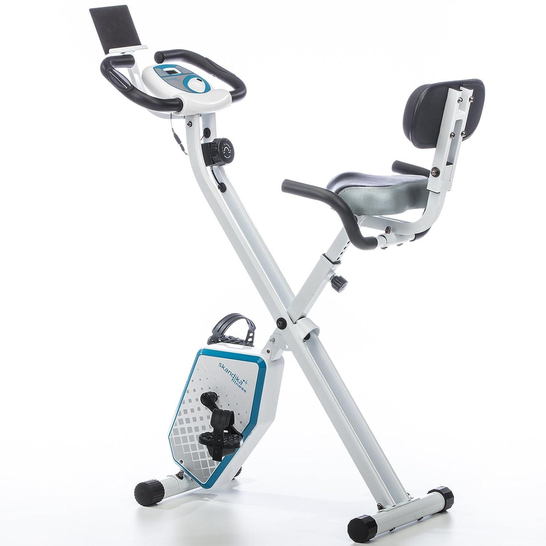 skandika Foldaway X-1000 PLUS - bicicleta estática de fitness - plegable - Bluetooth + soporte de tablet (blanco): Amazon.es: Deportes y aire libre