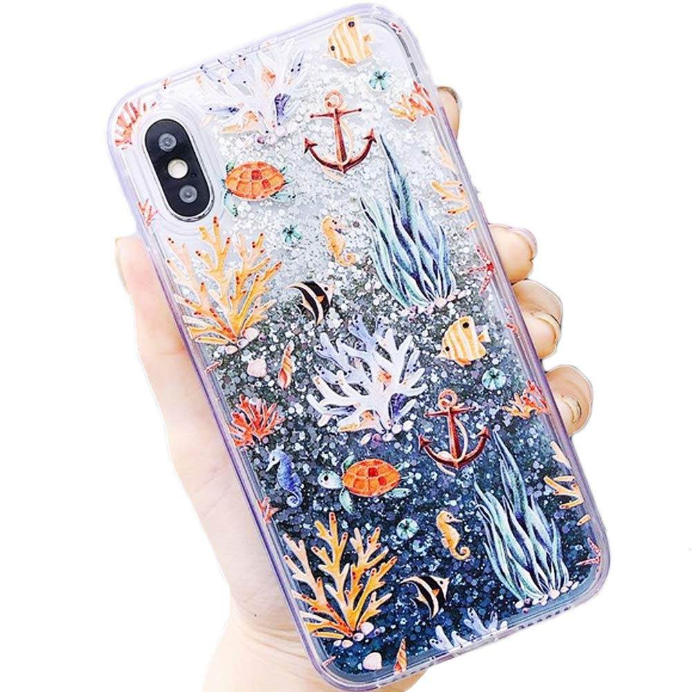 Amazon.com: Coral Reef Sea Life Anchor Ocean Tropical ...