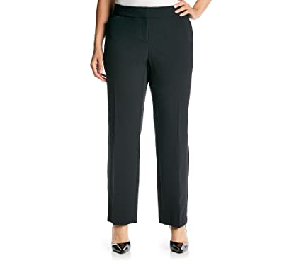 377d0988590 Studio Works by Briggs Plus Size Curvy Trouser Pants Black 16W Short at Amazon  Women s Clothing store