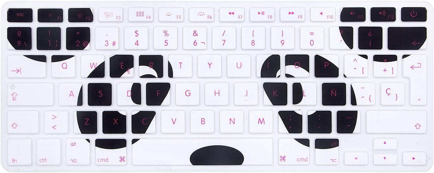 ISO Clavier Layout Skin avec ou sans /écran Retina, 2015 ou version ancienne MMDW Coque en silicone pour MacBook Pro 13 15 Old MacBook Air 13 Europe