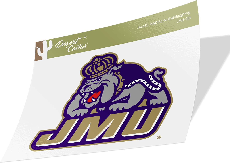 James Madison University JMU Dukes NCAA Vinyl Decal Laptop Water Bottle Car Scrapbook (Sticker - 001)