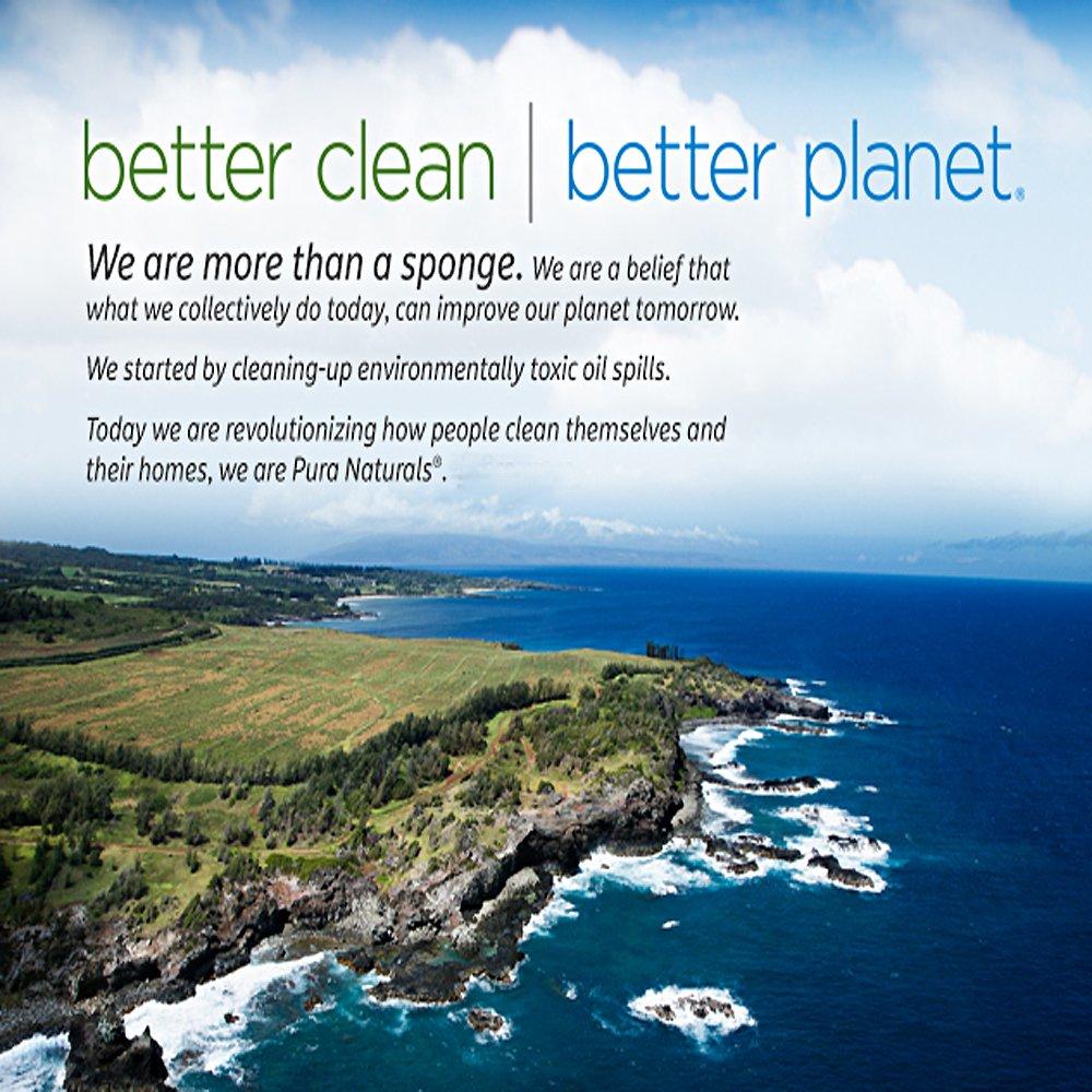 Amazon.com: Pura Naturals Stink Free Sponge. Inhibit Bacteria. Stay ...