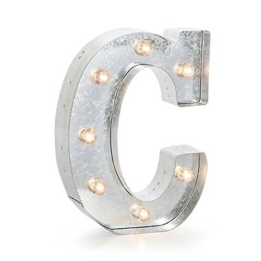 Darice 9.875 Metal Marquee Silver C
