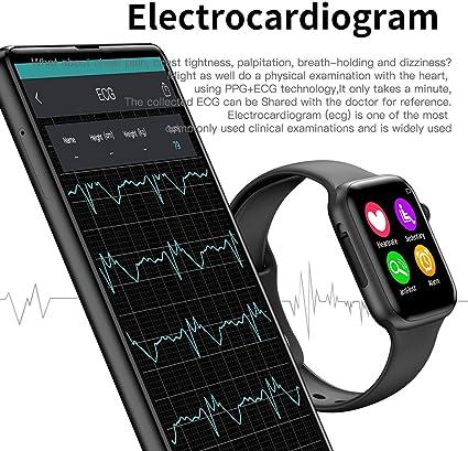 Smart Watch Men Heart Rate Smart Watch for Apple iOS,Iwo 8 Plus Black