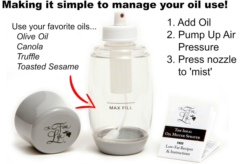alpha-ene.co.jp Ideal Kitchen Bundle Olive Oil Sprayer Mister Grey ...