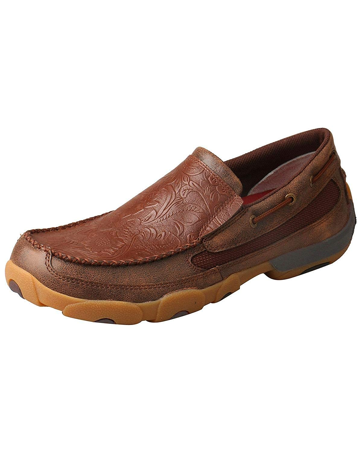 Amazon.com | Twisted X Mens Slip-On Driving Moccasins Moc Toe | Loafers & Slip-Ons