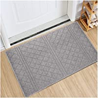 Indoor Doormat Absorbent Mats Latex Backing Non Slip Door Mat for Front Door Inside Floor Mud Dirt Trapper Mats Entrance…