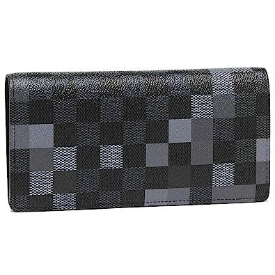 320639833f08 [ルイヴィトン]長財布 メンズ LOUIS VUITTON N60163 ブラック グレー マルチ [並行輸入