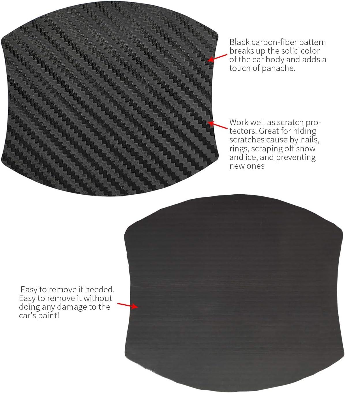 4 Pcs Door Handle Trim Magnetic Door Cup Paint Scratch Protector Cover Accessories for Nissan Titan