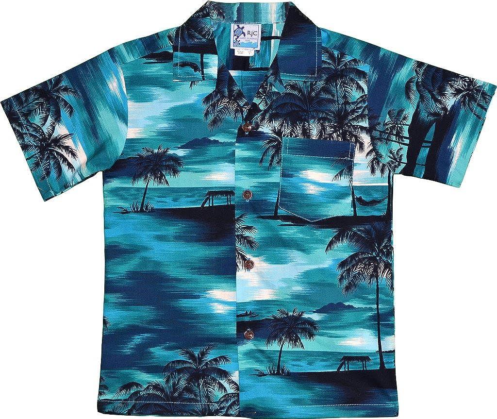 524e9bed Amazon.com: RJC Boy's Waimea Sunset Hawaiian Shirt: Clothing