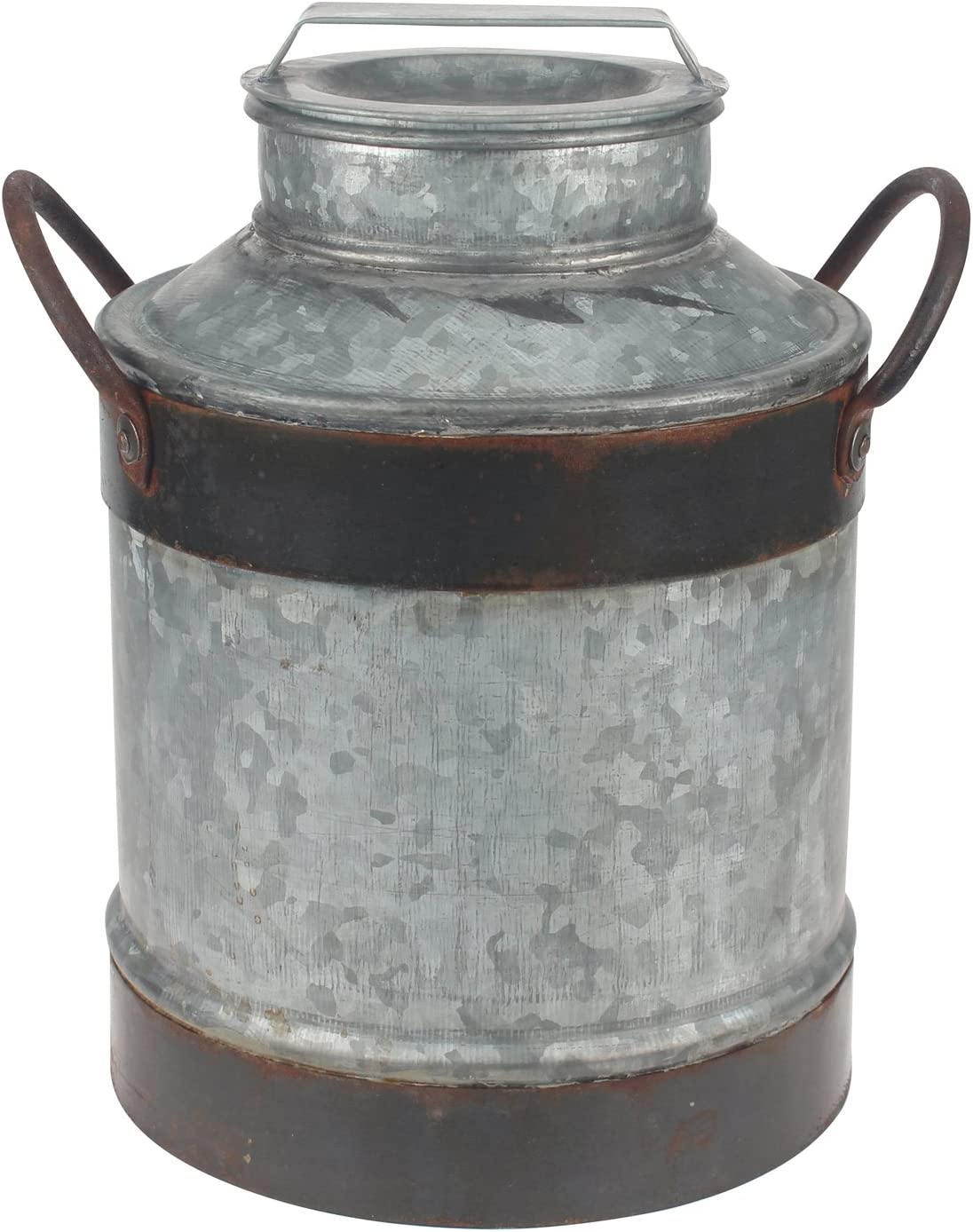Stonebriar Rust Galvanized Milk Jug