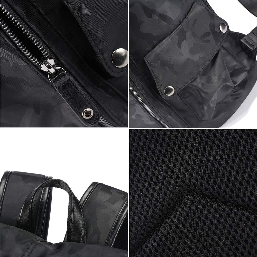 ALTINOVO Vintage PU Leather Backpack for Men Casual Daypack for Boys Outdoor Travel Waterproof Rucksack Black