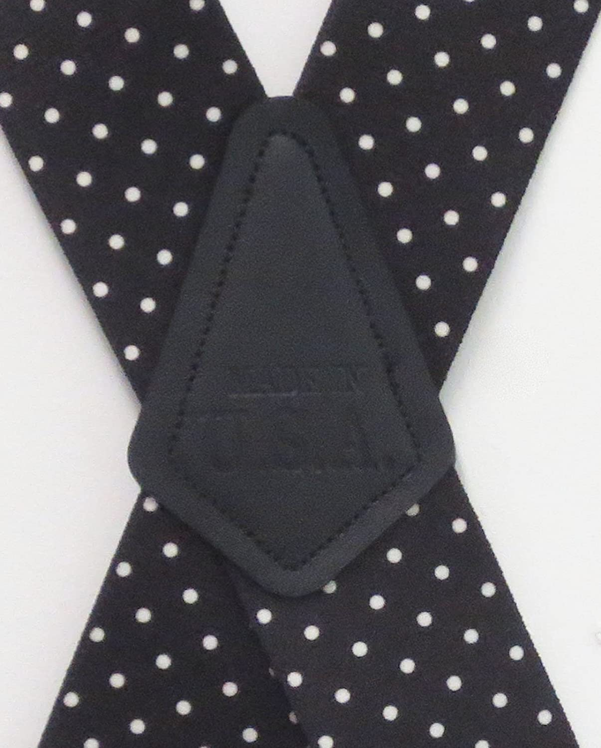 Mens Suspender Station 2 Wide Polka Dot Suspenders