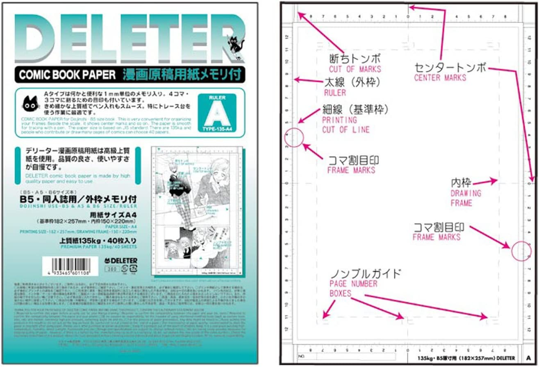 Papel de cómic DOJINSHI, (A4), blanco STANDARD GUIDE LINE