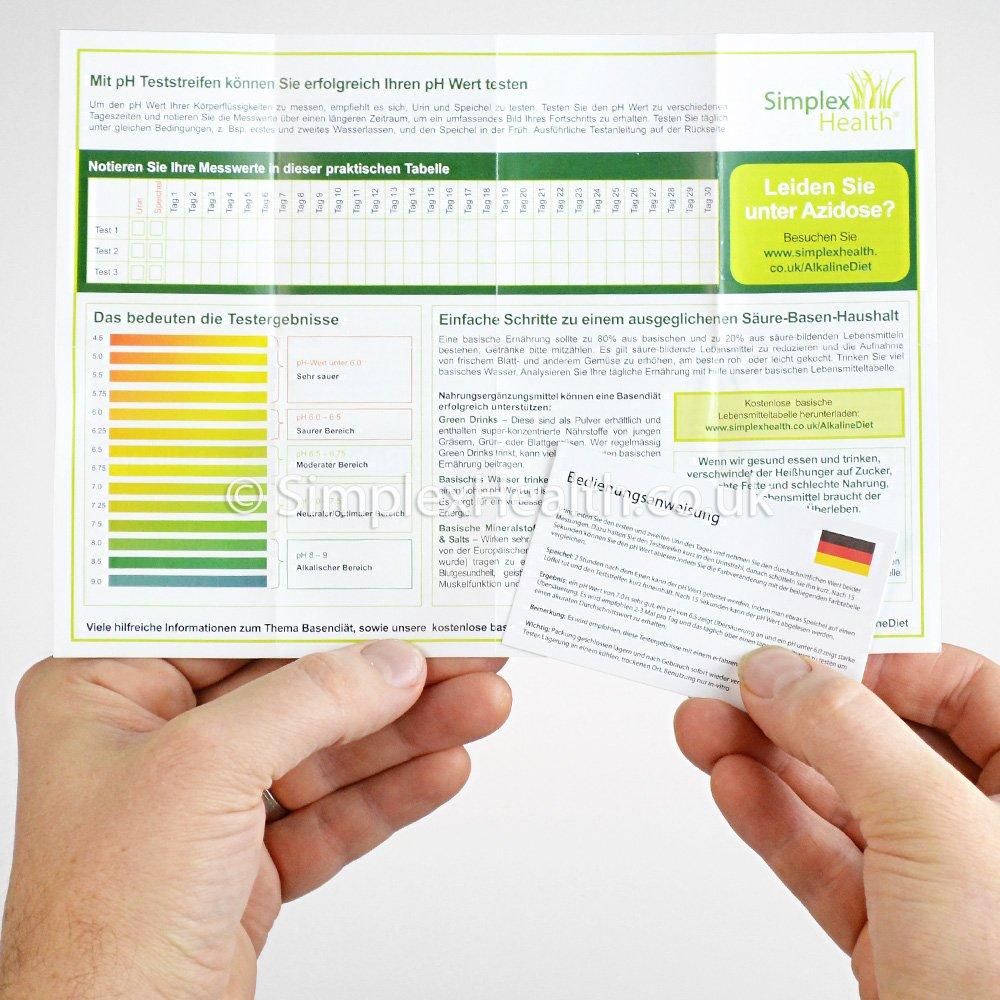 SimplexHealth pH Teststreifen (100 Stück) Urin und Speichel. Checken ...