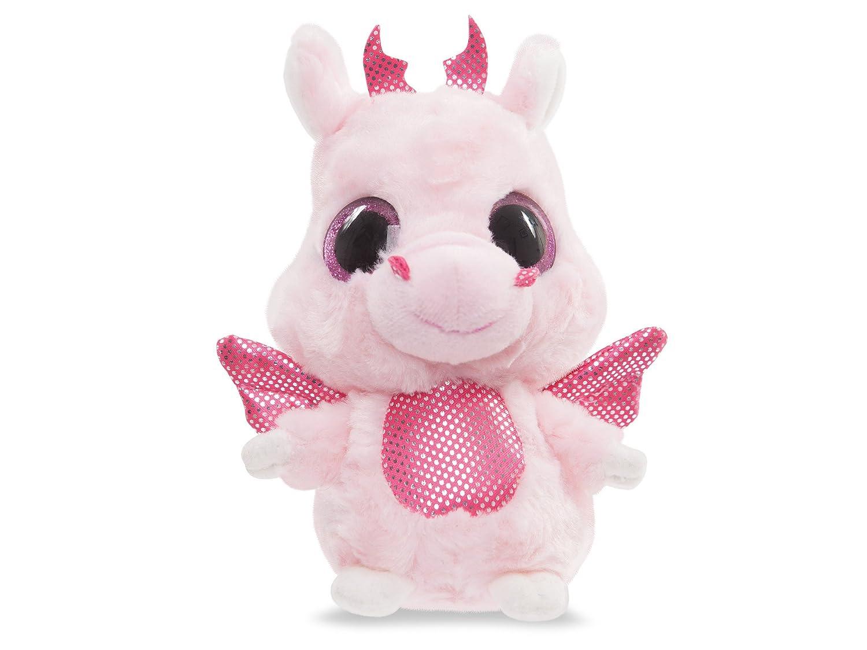 YooHoo & Friends - Dragón, peluche con ojos brillantes, 13 cm (Aurora World 60334)