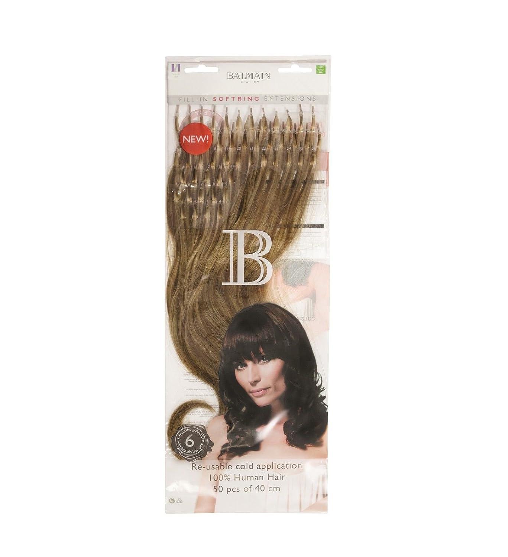 Balmain 50pcs Fill In Rings Human Hair 40cm 252 Hair Extensions
