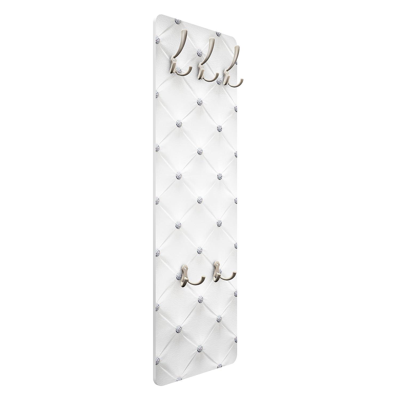 Appendiabiti da Parete Appendiabiti Design Appendiabiti da Muro Bilderwelten Appendiabiti 139x46x2cm Diamond White Luxury Dimensione: 139cm x 46cm Appendiabiti a Muro