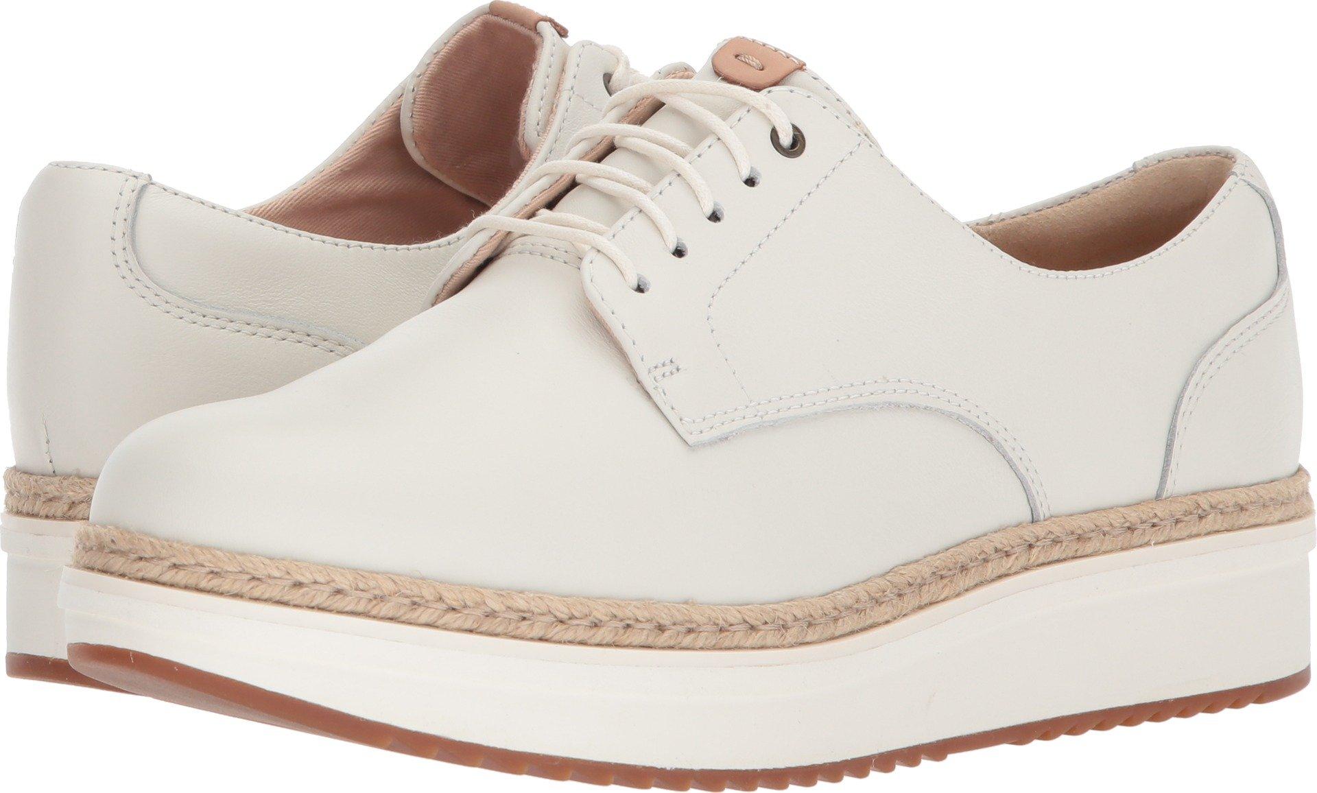 CLARKS Women's Teadale Rhea White Leather 5.5 B US by CLARKS