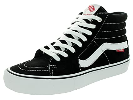 86b14241a2 Vans Men s SK8-Hi Pro Black White Gum Skate Shoe 7. 5 Men US  Amazon.in   Sports