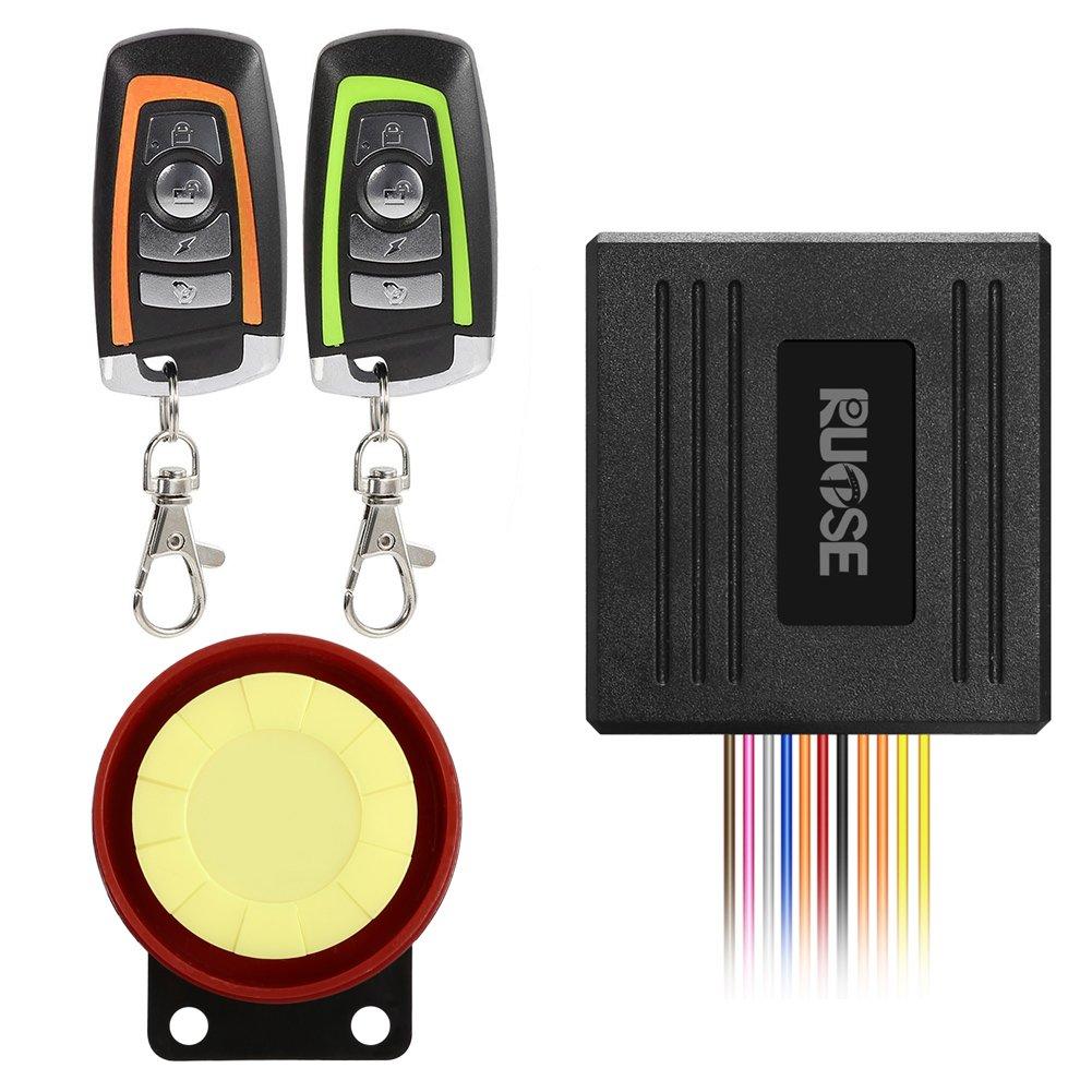 Rupse Waterproof Motorcycle Bike Anti-theft Security Burglar Alarm System Horn Alarm Warner Bi-color Remote Control