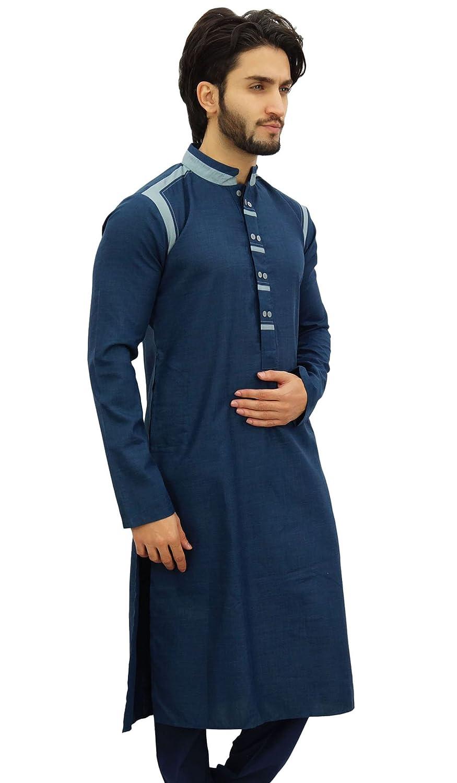 Atasi Herren Indische Ethnische Baumwolle Lange Kurta Hemd Wear