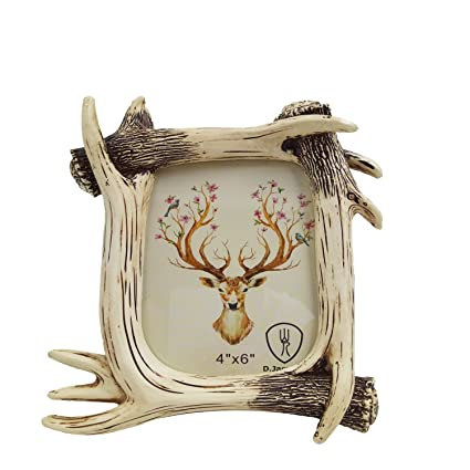 D.Jacware Decorative Resin Deer Antler Picture Frame, Made to Display 4\