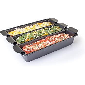 Amazon Com Chicago Metallic Lasagna Trio Pan 12 Inch By