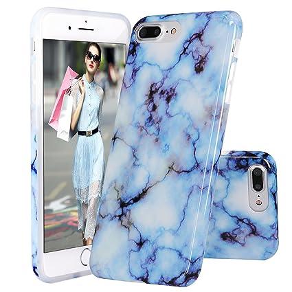 IPhone 8 Plus CaseiPhone 7 Case DOUJIAZ Blue Marble Design Clear Bumper