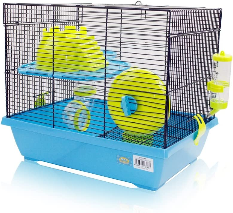 DI ZE LIN PET HOME S.L DZL® Jaulas Hamsters Grandes metalicos Jaula para Hamster hámster casa 43 * 31 * 37 cm