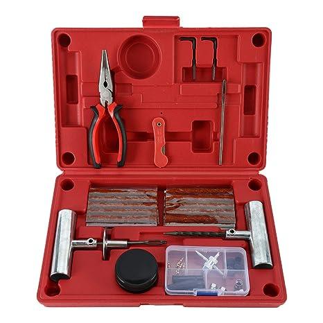 FreeTec 56pcs Heavy Duty Kit de Herramientas de reparación de neumáticos para Motocicleta, ATV,