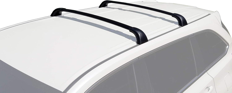 Highlander XLE Limited /& SE, Black BRIGHTLINES 2014-2019 Toyota Highlander Cross Bars Roof Racks